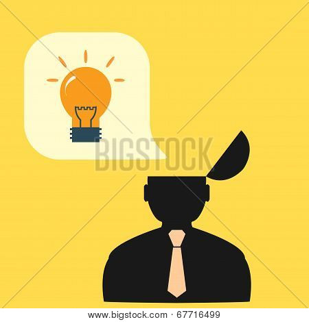 Vector flat abstract icon people, solution ideas