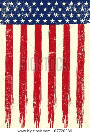 scratched flag of USA.eps. An american grunge flag of USA