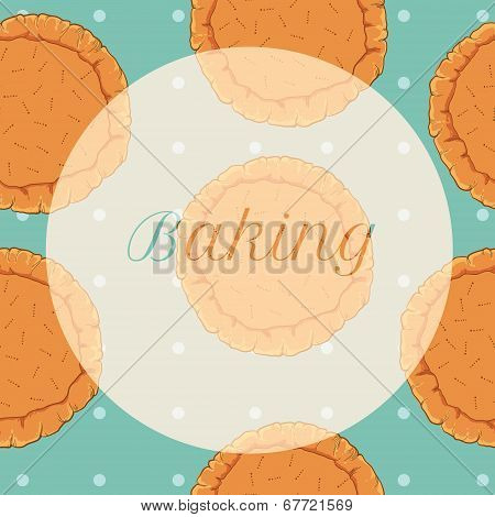 vector pastry dough seamless pattern for pizza