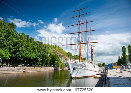 Sailing vessel Meridianas in Klaipeda, Lithuania