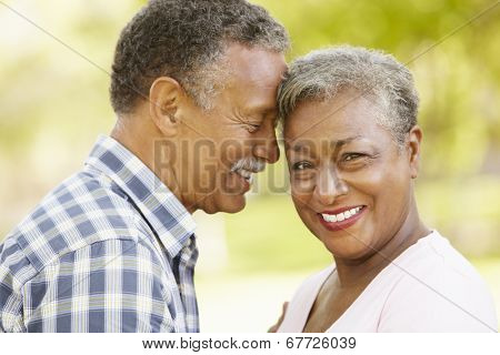 Senior  couple romantic portrait