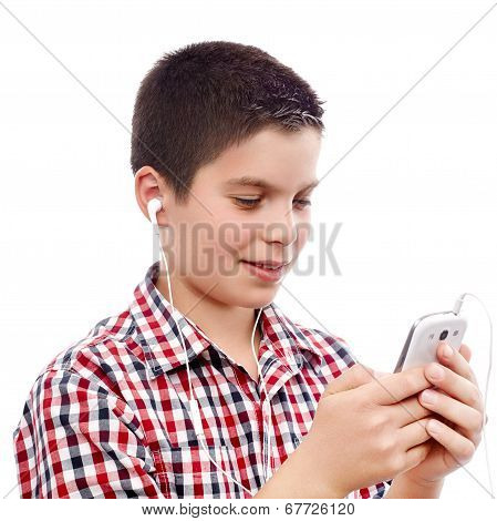 Young Boy On Internet