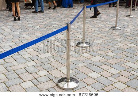 Security barrier at the event.