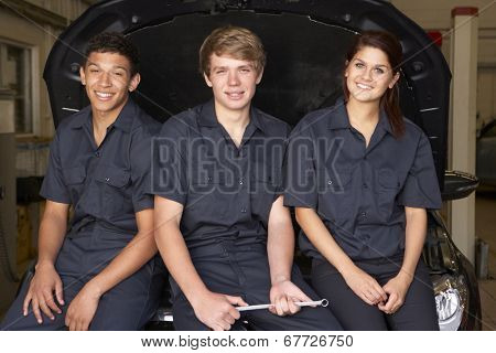 Young mechanics at work