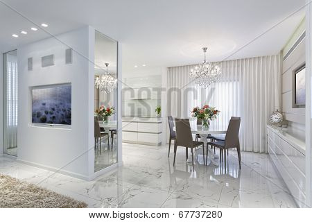 Modern Luxury Dining Room - Home Styling
