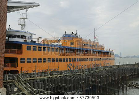 Staten Island Ferry docked at St. George Ferry Terminal on Staten Island