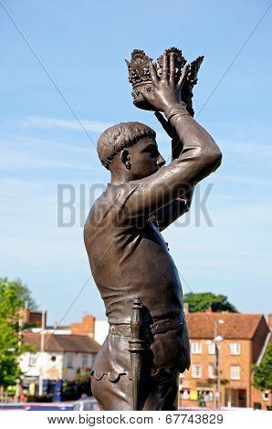 Price Hal statue, Stratford-upon-Avon.