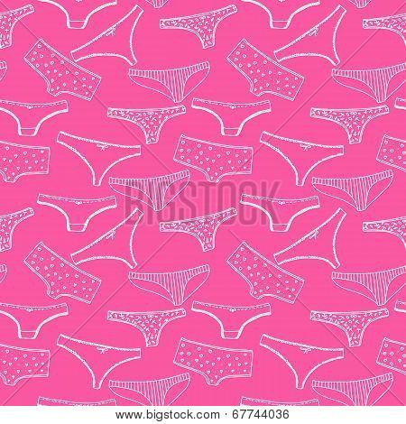 Seamless pattern wirh underclothes panties