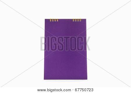 Purple Blank Paper Desk Spiral Calendar.