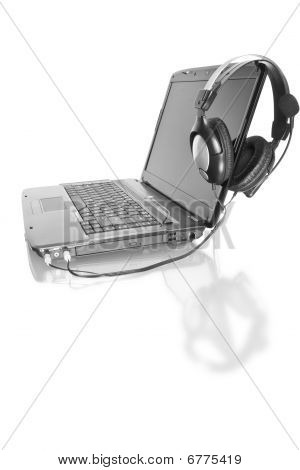 Home Laptop With Stereo Headset