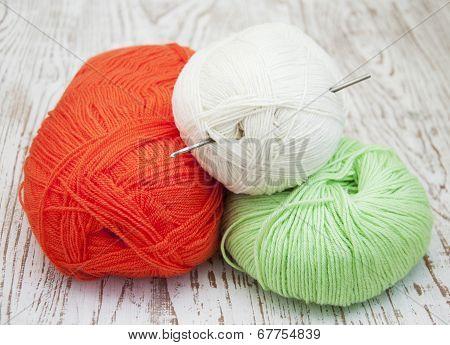 Yarns And Crotchet Hook