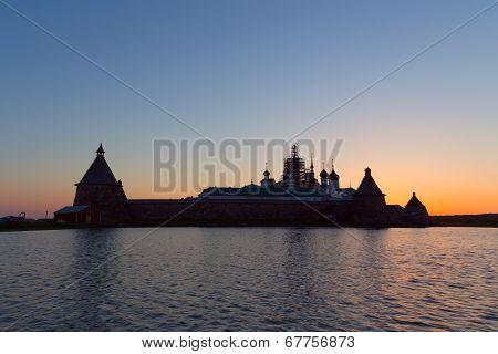 Solovetsky Monastery at sunset