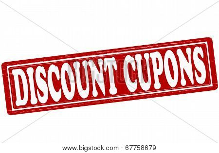 Stamp with text discount cupons inside vector ilustration