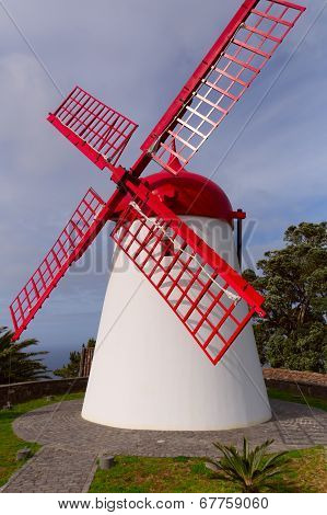 Windmill At Mosteiros, Azores