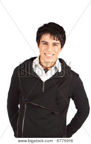 Smiling Hispanic Teen