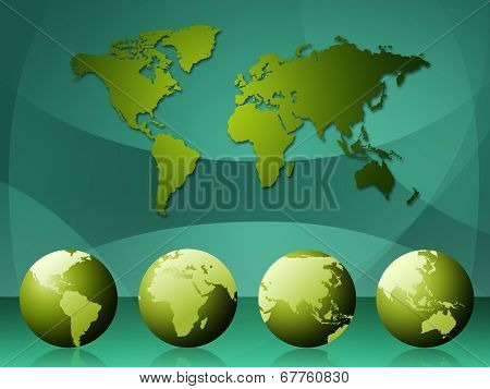 World Map Means Cartography Globalization And Continents