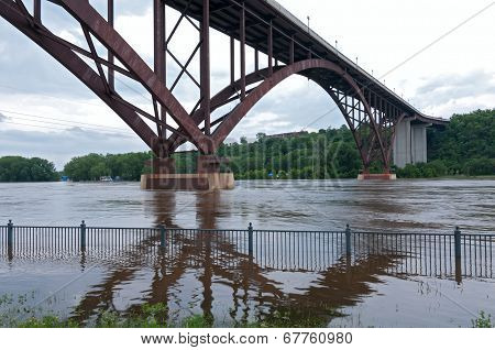 High Bridge And Mississippi River Of Saint Paul