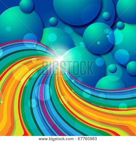 Spheres Background Represents Text Space And Abstract