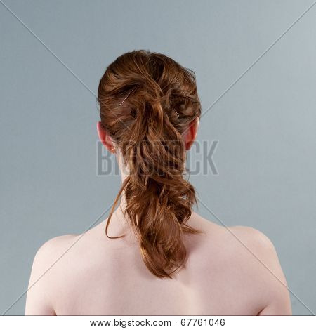 Red Haired Woman Head And Shoulders