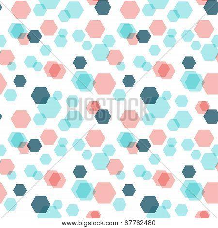 Geometric hexagon seamless pattern