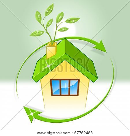 House Eco Indicates Earth Day And Building
