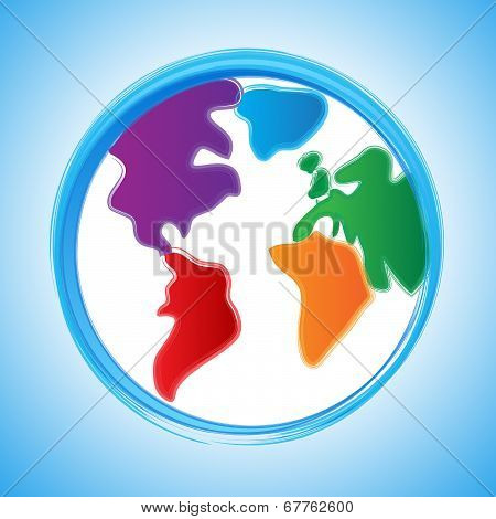 Globe Background Indicates Earth World And Template