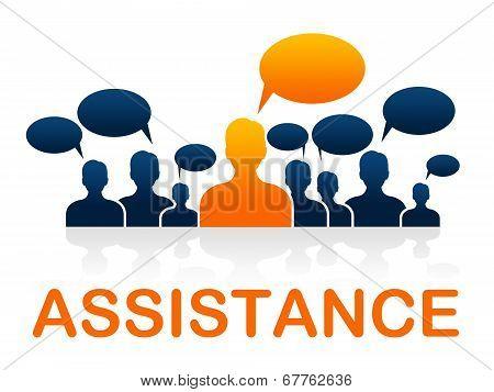 Customer Service Indicates Help Desk And Advice