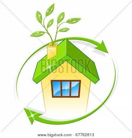 Eco House Indicates Earth Friendly And Building