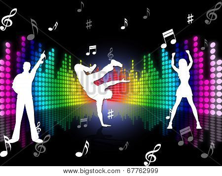 Music Dancing Represents Sound Track And Dance