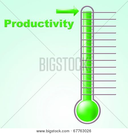 Thermometer Productivity Indicates Mercury Effective And Degree