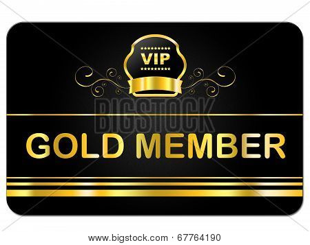 Gold Member Shows Very Important Person And Card