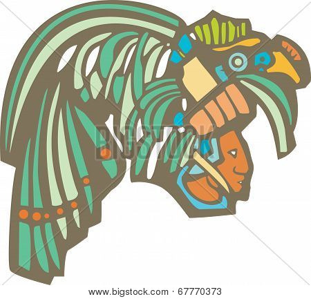 Mayan Warrior Head