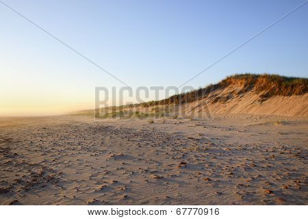Sand Dune on Foggy Morning