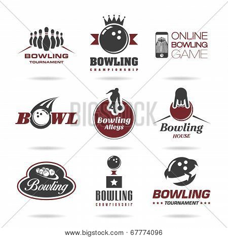 Bowling icon set - 3