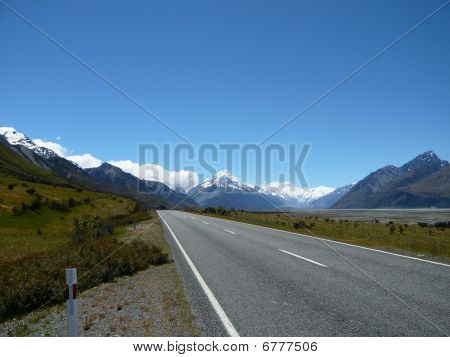 Mt Cook In New Zealand