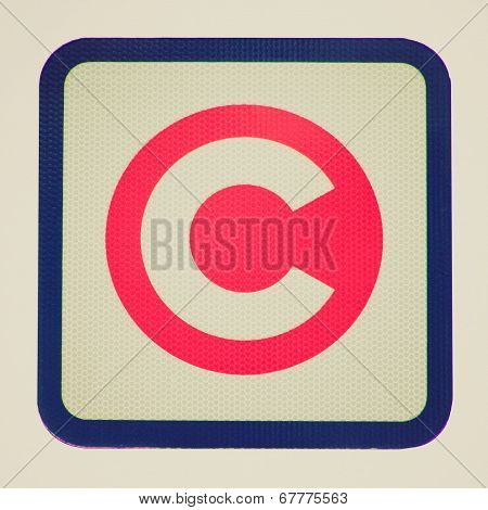 Retro Look London Congestion Charge Sign