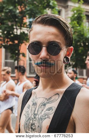 People Taking Part In Milano Pride 2014, Italy