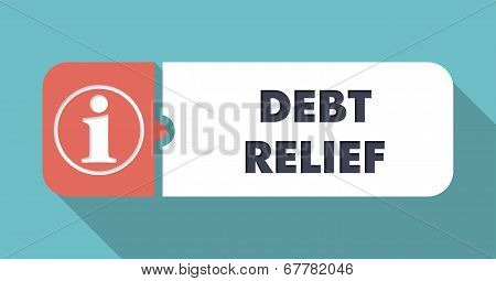 Debt Relief Concept in Flat Design.