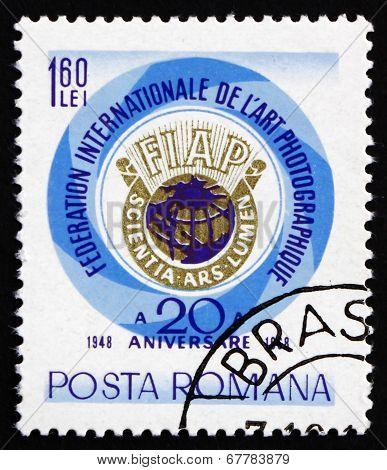 Postage Stamp Romania 1968 Globe And Emblem