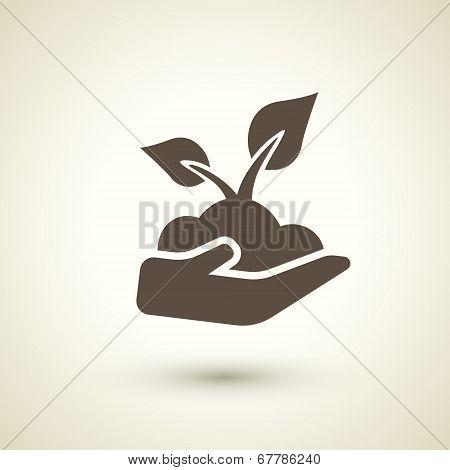 Retro Style Seedling Icon