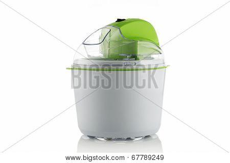 Ice Cream Maker Machine Tool, Isolated On White