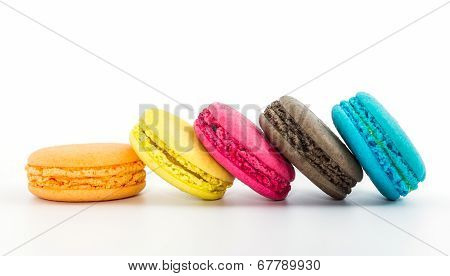 Sweet And Colourful French Macaroons .