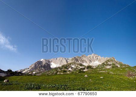 View Of Mount Pshekha-su In Morning Time