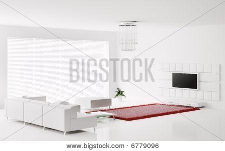 White Interior 3D