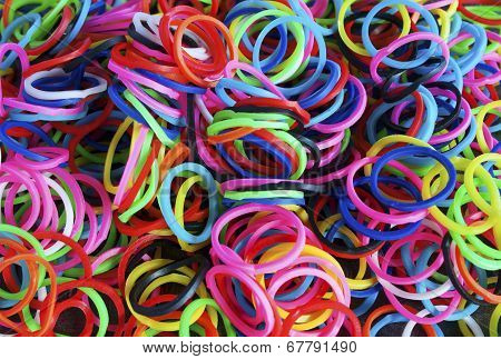 Colorful Background Rainbow Loom Rubber Bands Fashion