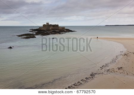 Fortress In Saint Malo, Bretagne, France