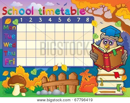 School timetable composition 2 - eps10 vector illustration.