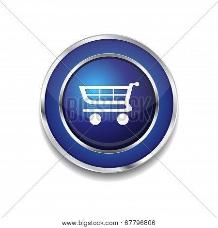 Shopping Circular Vector Blue Web Icon Button