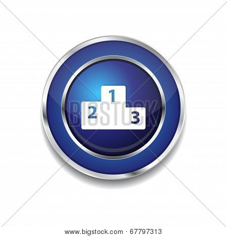 Score Board Circular Vector Blue Web Icon Button