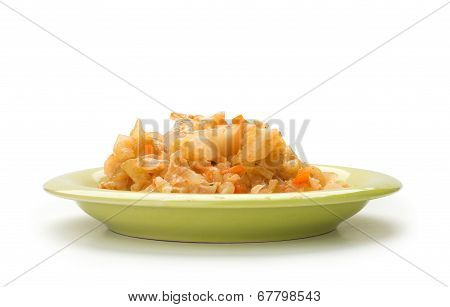 Stewed Cabbage With Chicken, Onion, And Carot